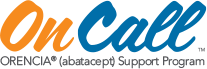 On Call ORENCIA® (abatacept) support program logo