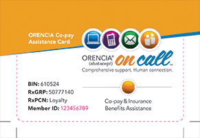 ORENCIA Co-pay Assistance Card